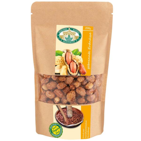 Gebrannte Erdnüsse im Beutel 200g