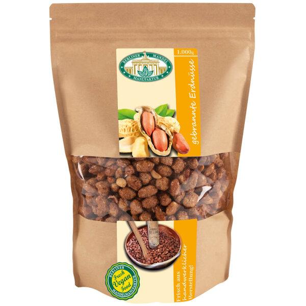 Gebrannte Erdnüsse im Beutel 1000g