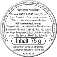 Gebrannte Haselnüsse 75g