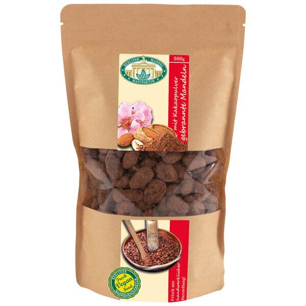 Gebrannte Mandeln mit Kakao im Beutel 500g